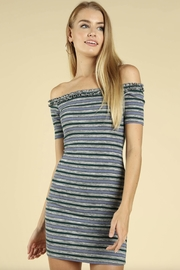 Wild Honey Off-Shoulder Striped Dress - Product Mini Image