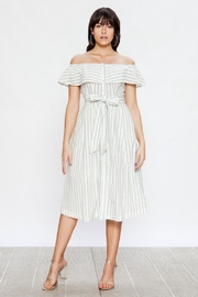 Jealous Tomato Off-Shoulder Striped Dress - Product Mini Image