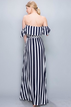 AAKAA Off-Shoulder Striped Maxi - Alternate List Image