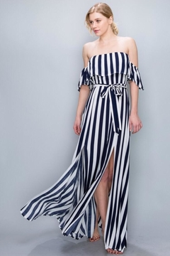 AAKAA Off-Shoulder Striped Maxi - Product List Image