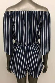 Ambiance Off-Shoulder Striped Romper - Front full body
