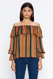 Jealous Tomato Off-Shoulder Striped Top - Product Mini Image