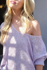 Hyped Unicorn Off-Shoulder Summer Sweater - Front cropped