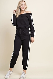 Honey Punch Off-Shoulder Sweat Shirt - Product Mini Image