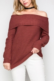 Favlux Off Shoulder Sweater - Product Mini Image