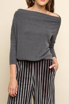 Umgee USA Off Shoulder Sweater - Product List Image