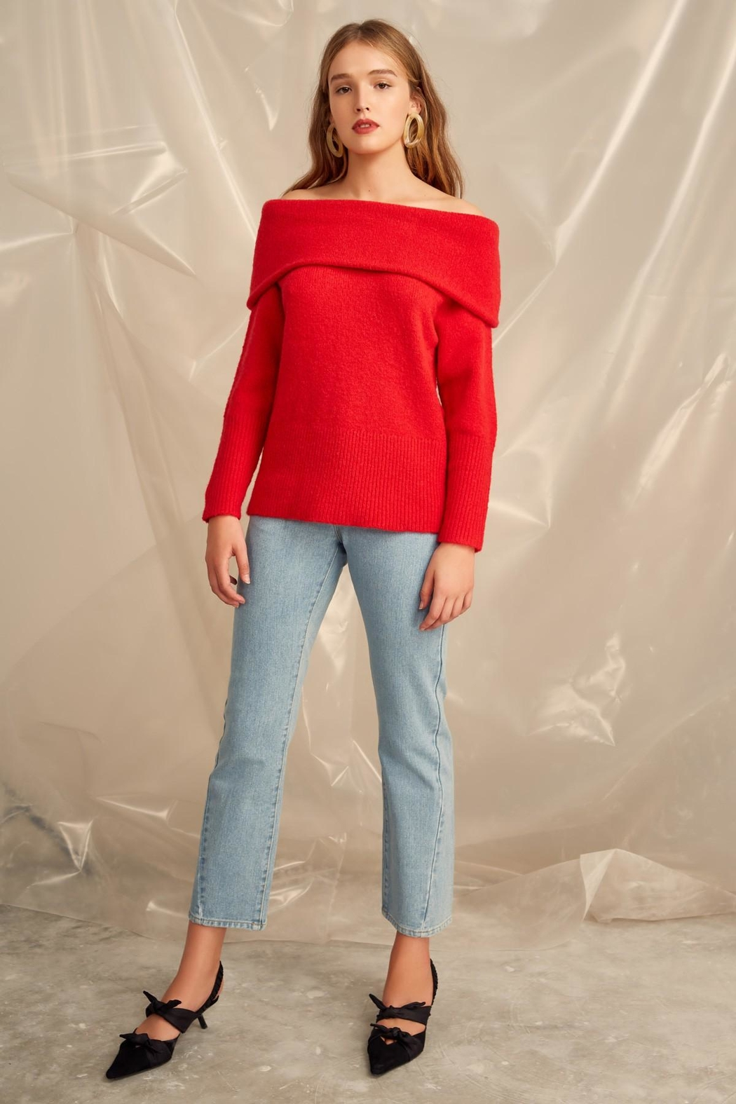 C/MEO COLLECTIVE Off Shoulder Sweater - Main Image