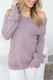 She + Sky Off Shoulder Sweater - Product Mini Image