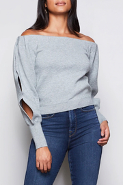 Good American  Off Shoulder Sweater - Front cropped