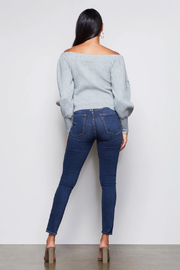 Good American  Off Shoulder Sweater - Back cropped