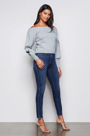 Good American  Off Shoulder Sweater - Front full body