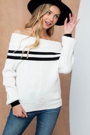 Top Hat Off Shoulder Sweater - Product Mini Image