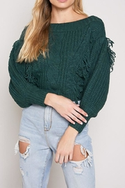 blue blush Off Shoulder Sweater - Product Mini Image
