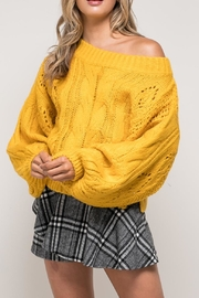 Mustard Seed Off Shoulder Sweater - Product Mini Image