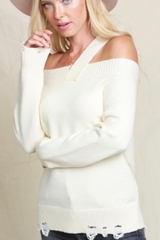 Hyped Unicorn Off Shoulder Sweater With Single Strap - Front full body