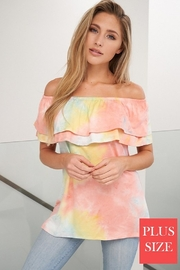 White Birch  Off Shoulder  Tie Dye Top - Product Mini Image