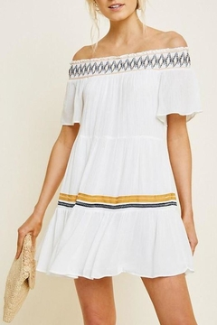 Hayden Los Angeles Off-Shoulder Tiered Swing-Dress - Product List Image