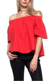 Rosette Off Shoulder Top - Product Mini Image