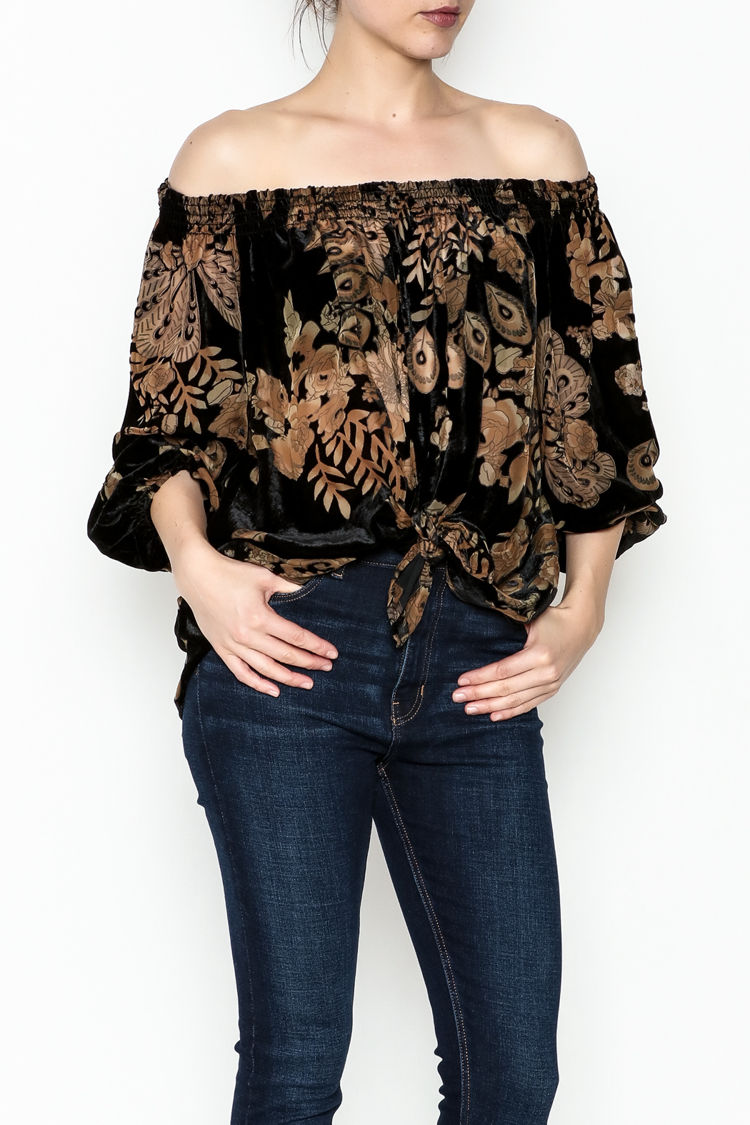 Ariella Off Shoulder Top - Front Cropped Image