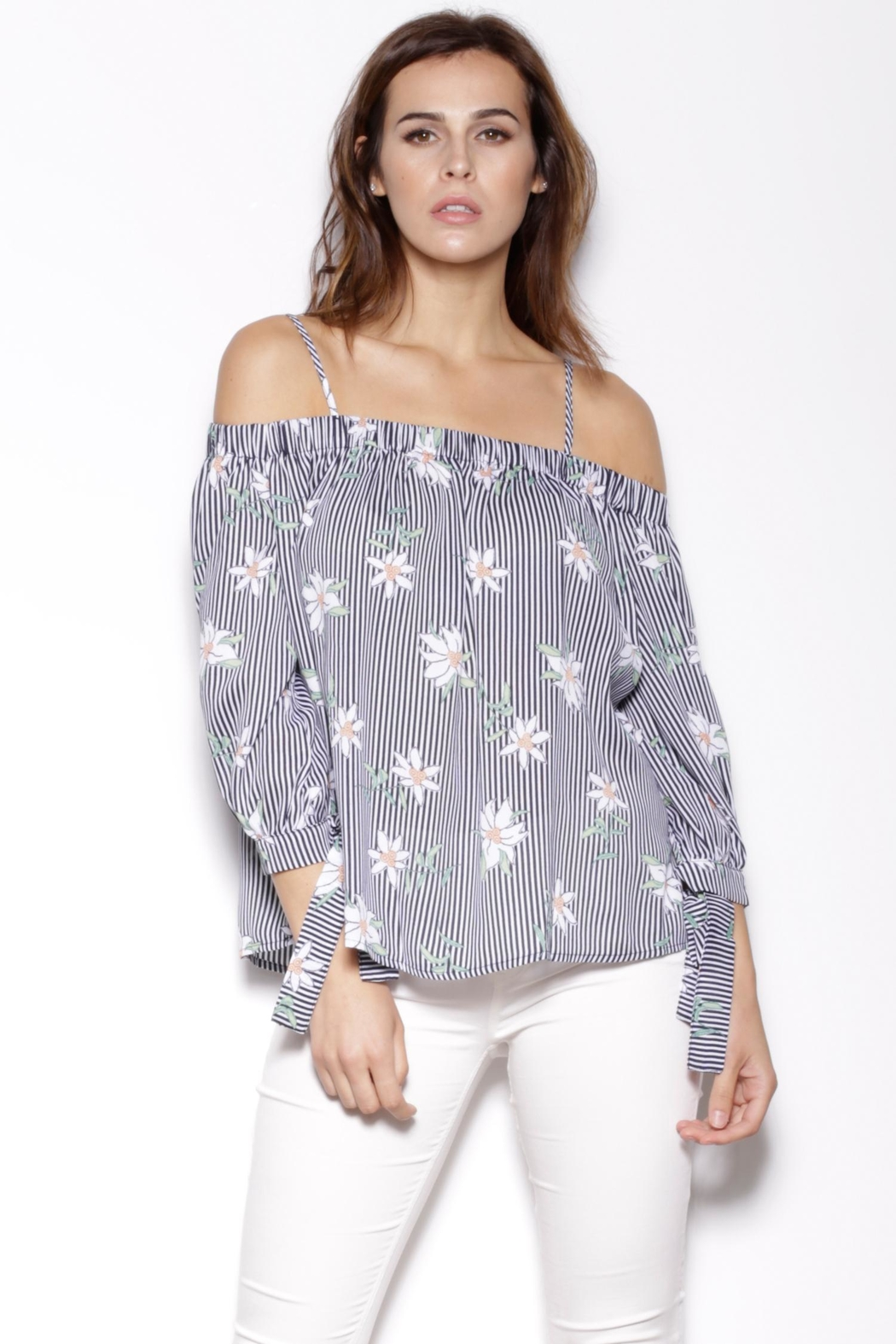 Pink Martini Collection Off Shoulder Top - Main Image
