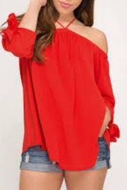 She + Sky Off-Shoulder Top - Product Mini Image