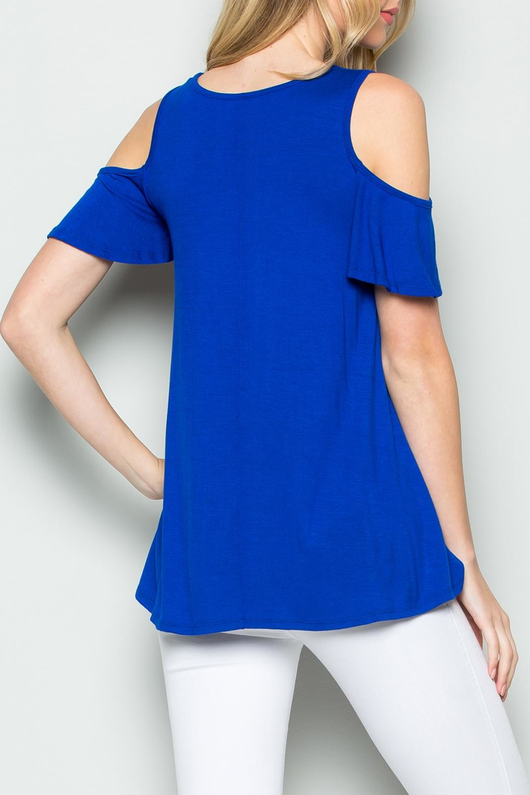 Riah Fashion Off Shoulder Top - Side Cropped Image
