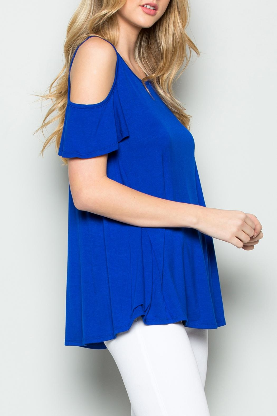 Riah Fashion Off Shoulder Top - Front Full Image