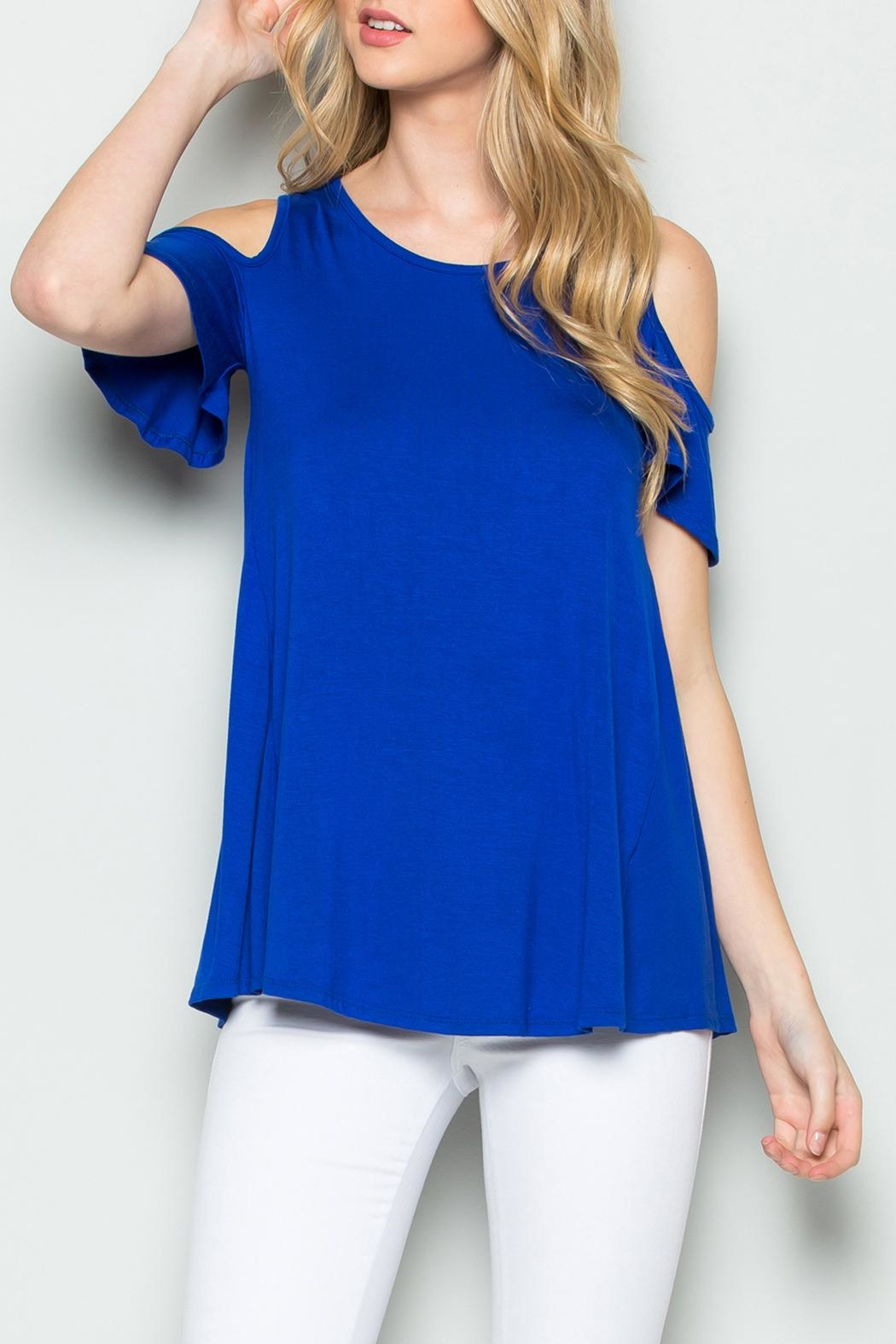 Riah Fashion Off Shoulder Top - Front Cropped Image