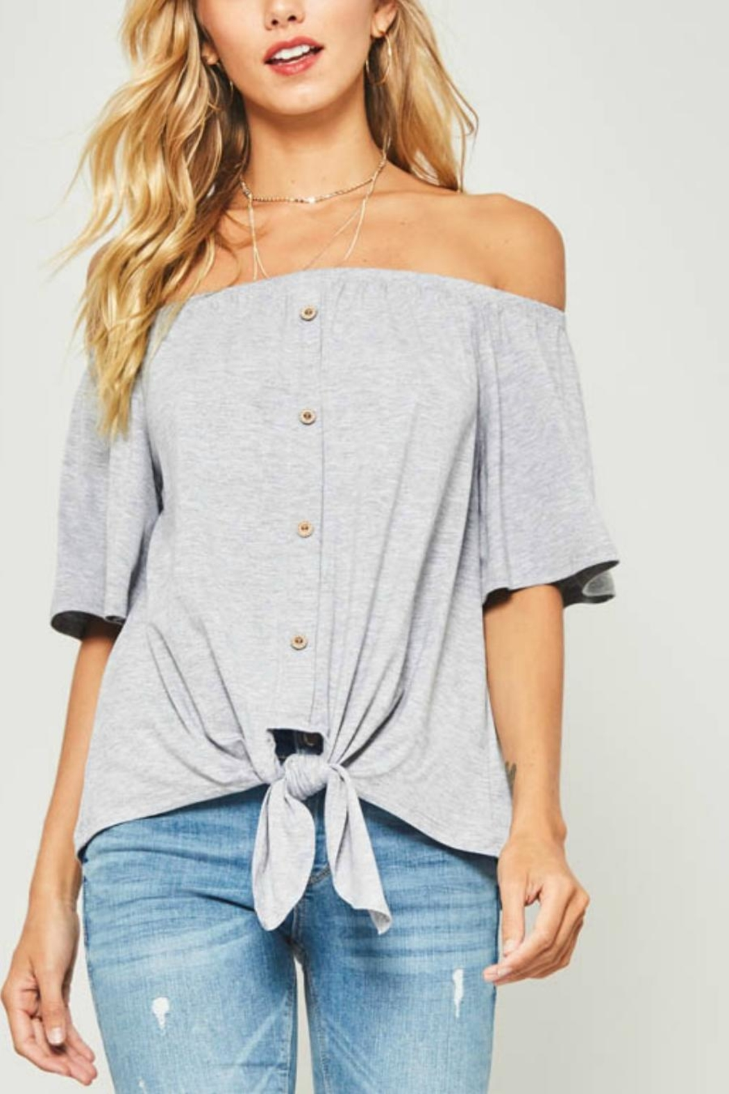 a58983d6cf4 Unknown Factory Off Shoulder Top from Raleigh by Athleisure — Shoptiques