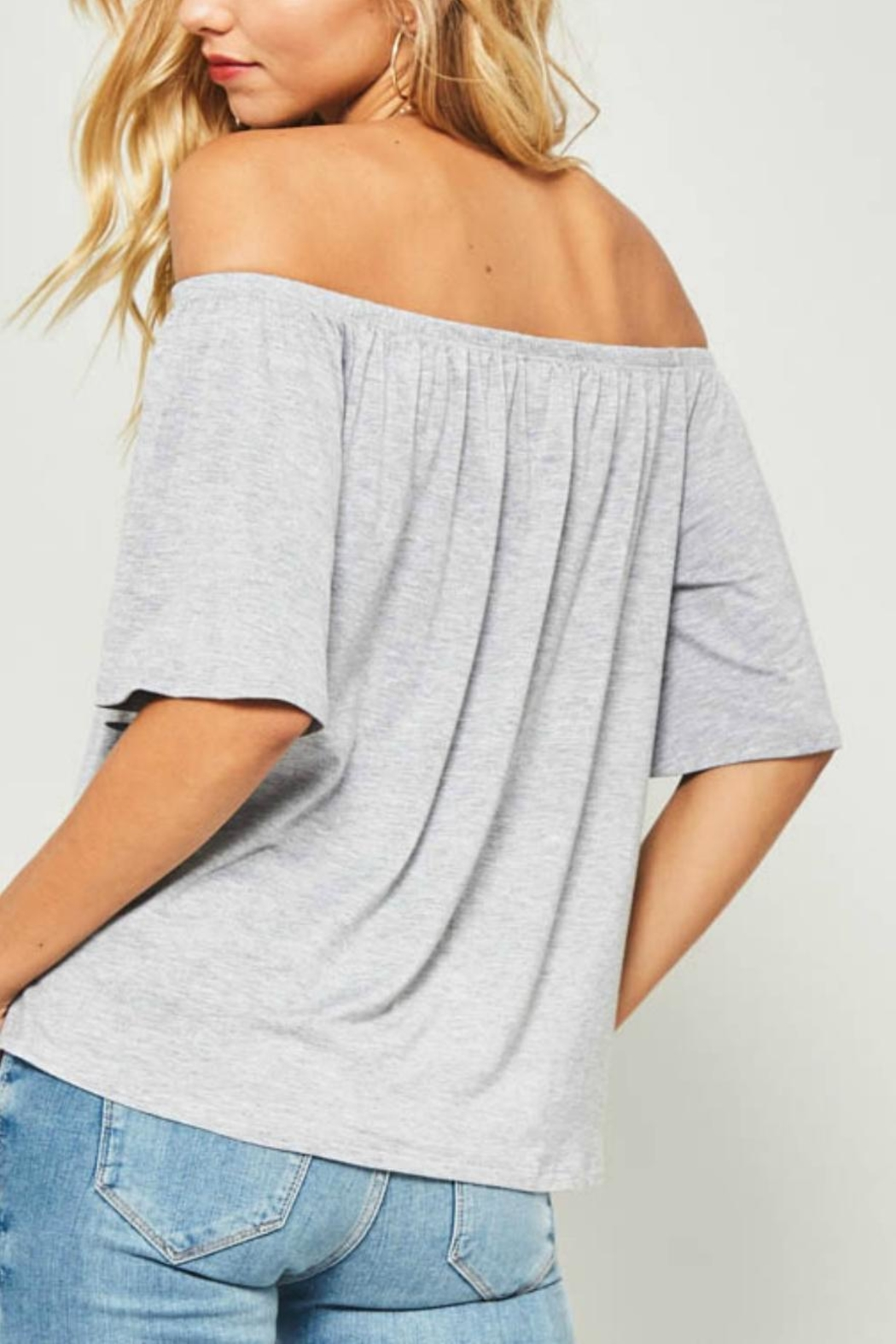 Unknown Factory Off Shoulder Top - Front Full Image