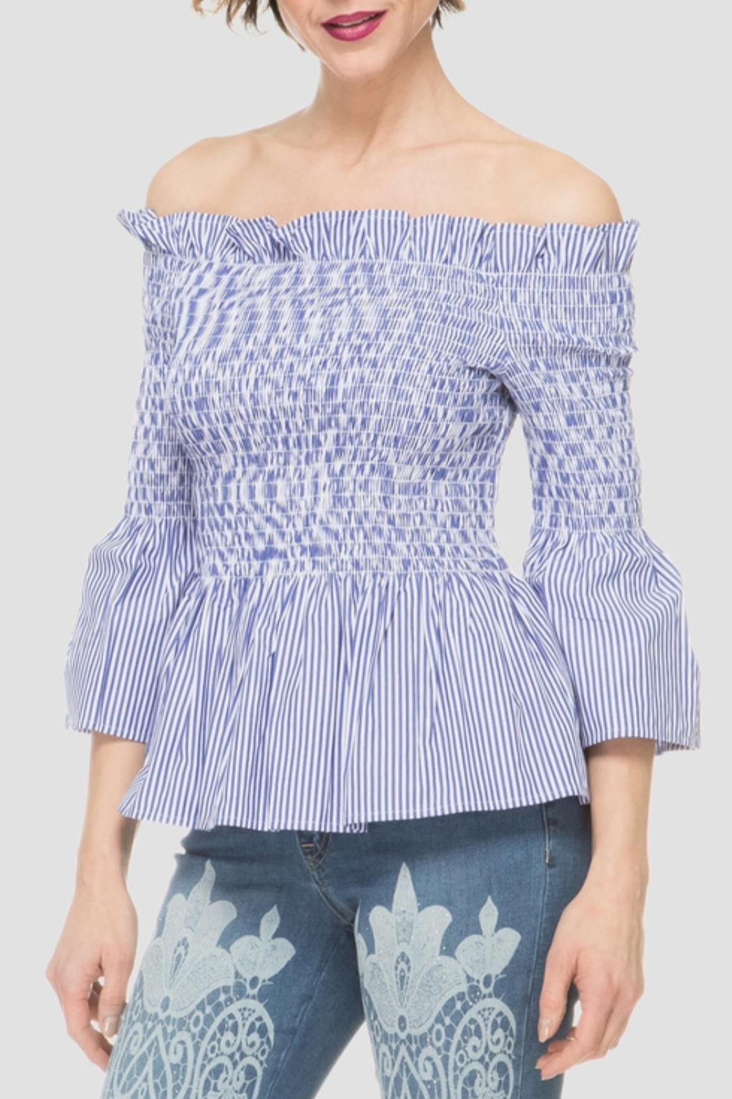 Joseph Ribkoff Off Shoulder Top - Main Image