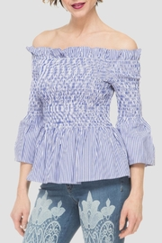 Joseph Ribkoff Off Shoulder Top - Front cropped