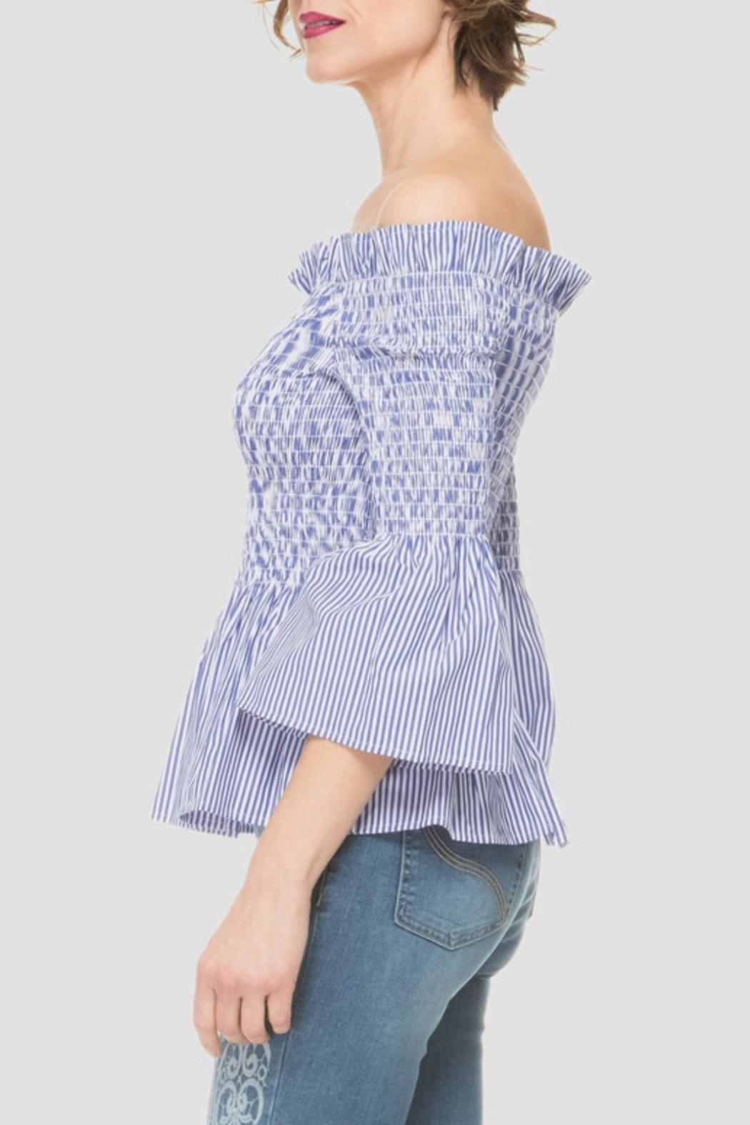 Joseph Ribkoff Off Shoulder Top - Front Full Image