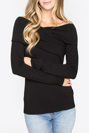 Sugar Lips Off-Shoulder Top, Black - Product Mini Image