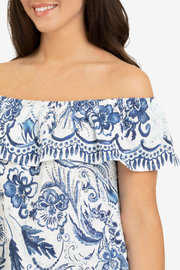Tribal Off shoulder top w frill - Side cropped