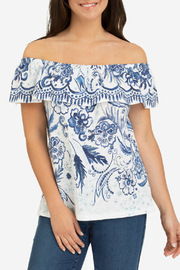 Tribal Off shoulder top w frill - Product Mini Image