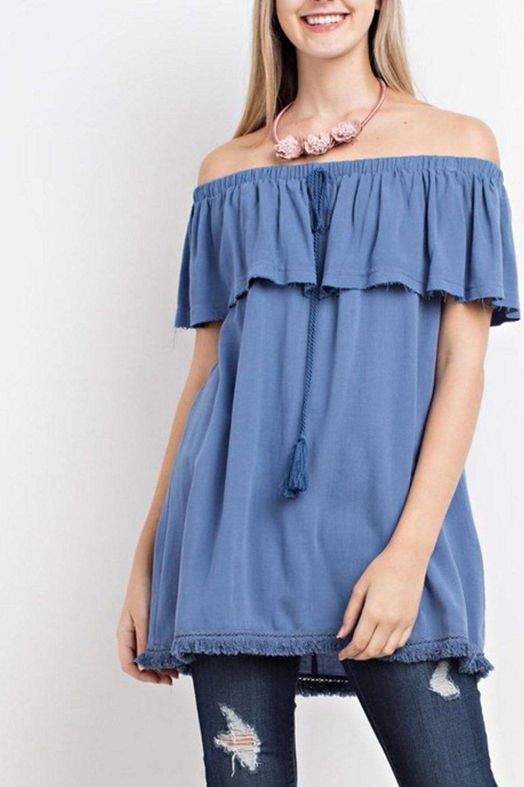 easel Off-Shoulder Tunic - Main Image