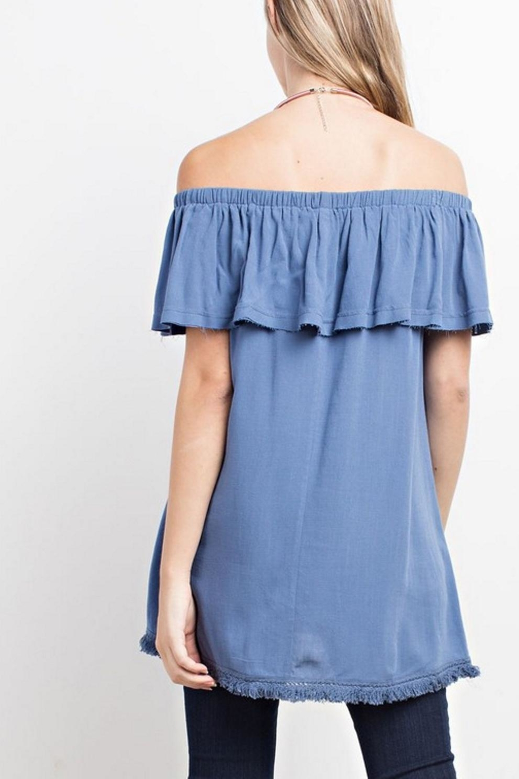 easel Off-Shoulder Tunic - Side Cropped Image