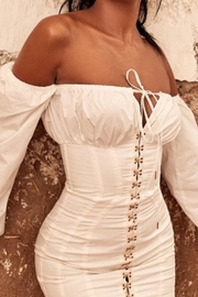 E2 Clothing Off-Shoulder White Dress - Product Mini Image
