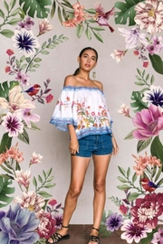 Flying Tomato Off-Shoulder Wildflower Top - Product Mini Image