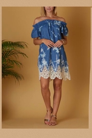 Show Me Your Mumu Off-Shouldered Embroidered Dress - Product Mini Image