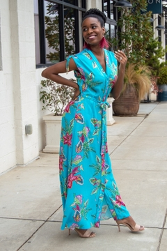 Shoptiques Product: Off the Map Floral Maxi Dress