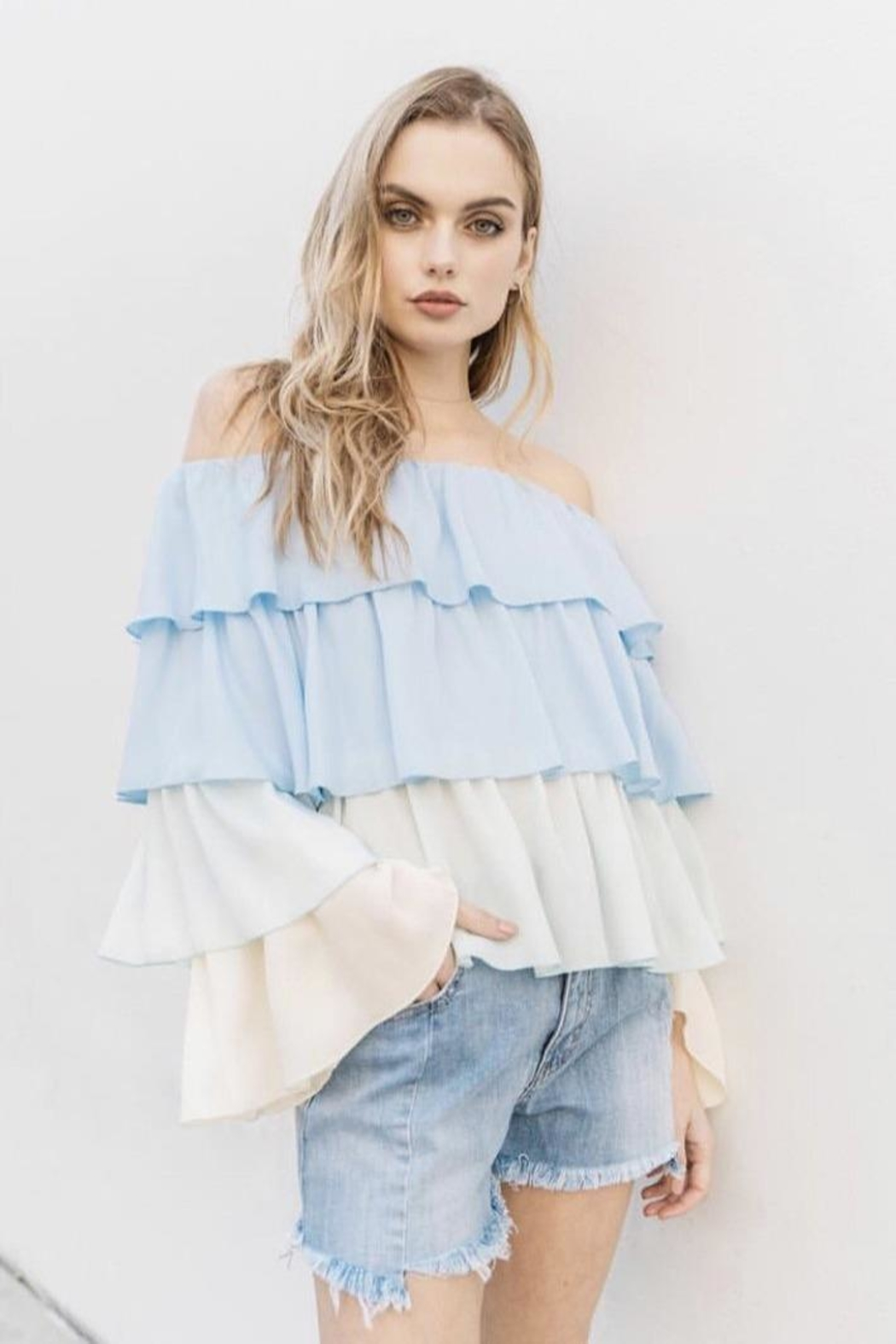 On Twelfth Off The Shoulder - Front Cropped Image