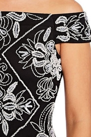 Adrianna Papell Off The Shoulder Beaded Dress - Front full body