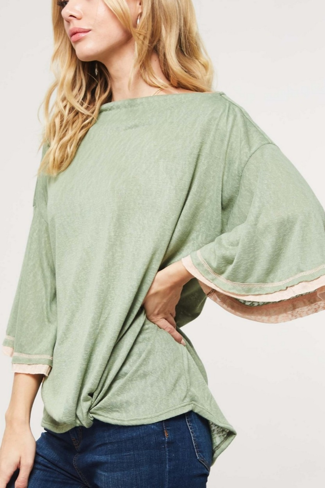 Lyn-Maree's  Off the Shoulder Bell Sleeve Top - Main Image