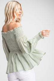 Glam Off The Shoulder Blouse - Front full body