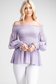 Glam Off The Shoulder Blouse - Front cropped