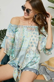 Adora Off the Shoulder Blouse with Bell Sleeve - Product Mini Image