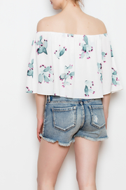 Buddy Love Off The Shoulder Cactus Top - Back cropped