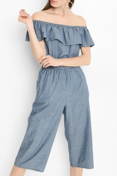 Shoptiques Product: Off-The-Shoulder Chambray Jumpsuit